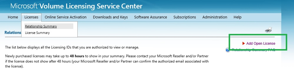 microsoft license authorization number